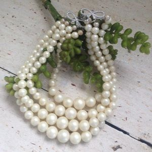 Jewelry - Vintage Four Strand Pearls
